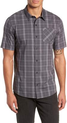 Travis Mathew Adam Short Sleeve Check Regular Fit Sport Shirt