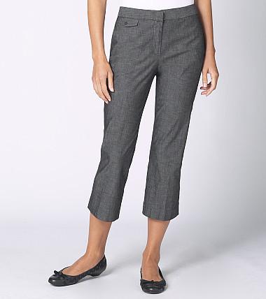 Sloane Cross-Dyed Cropped Pants