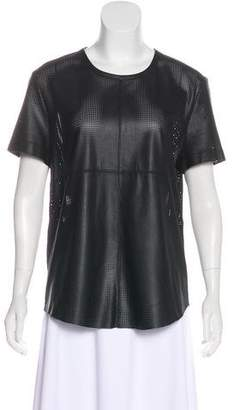Scoop Perforated Leather Top