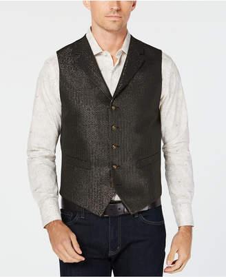 Tallia Men's Slim-Fit Black Metallic Vest