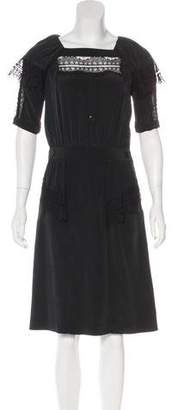 Mayle Silk Lace-Accented Dress