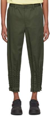 Issey Miyake Green Gabardine Torus Trousers