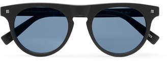 Ermenegildo Zegna D-Frame Matte-Acetate Sunglasses