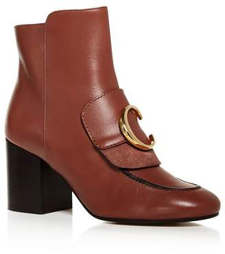 Chloé Women's C Leather Ankle Booties