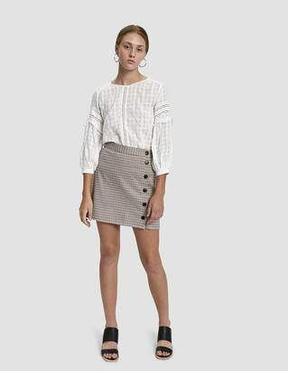 Stelen Belinda Plaid Side Button Mini Skirt
