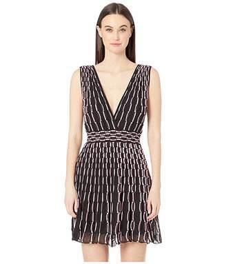 M Missoni Double V Wave Jacquard Short Dress