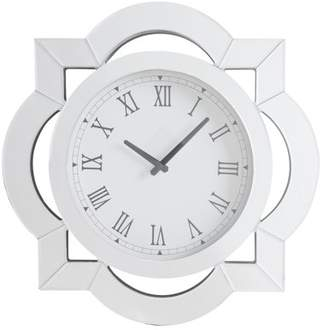 Acme Lilac Beveled Mirror Frame Wall Clock in Mirrored