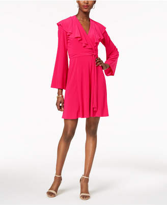 Taylor V-Neck Ruffled Wrap Dress