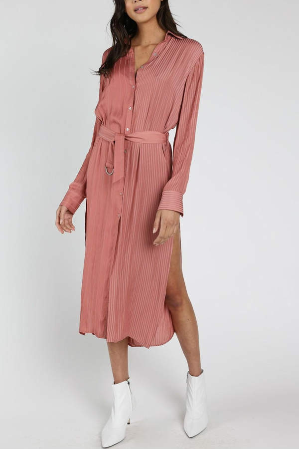 Mauve Shirt Dress