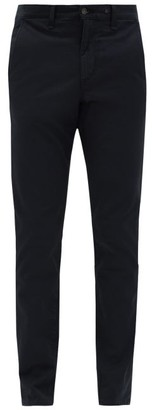 Rag & Bone Low Rise Cotton Blend Chino Trousers - Mens - Navy