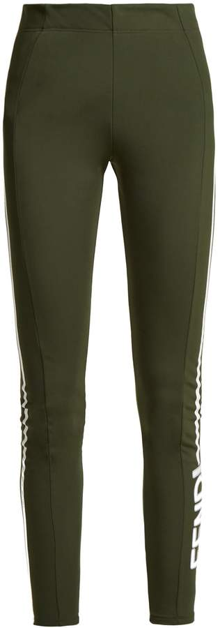 FENDI Side-stripe après-ski leggings