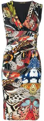 Roberto Cavalli patterned sleeveless dress
