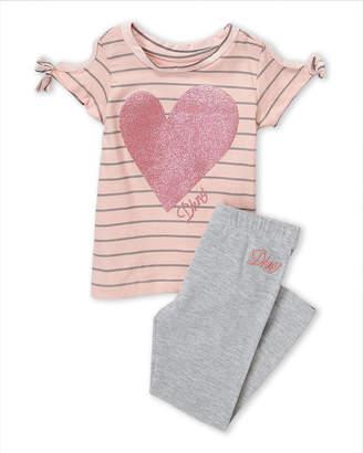 DKNY Infant Girls) Glitter Short Sleeve Tee & Leggings