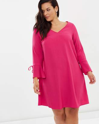 Evans Tie Sleeve Shift Dress