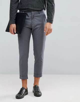 Selected Smart Cropped Pants In Gray
