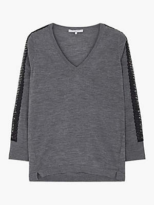 Gerard Darel Cara Wool Top, Grey