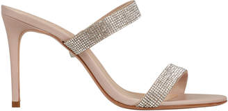 Schutz Beatriz Crystal-Embellished Leather Sandals