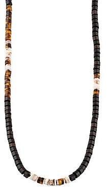 Tateossian Men's Ebony Discs Necklace