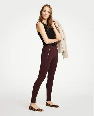 Ann Taylor Tall Ponte Zip Pocket Leggings