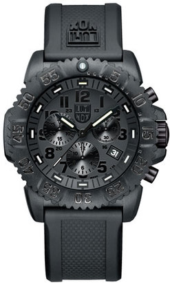 Luminox 44mm Navy SEAL 3080 Series Colormark Chronograph Watch, Black $525 thestylecure.com