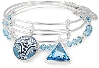 Alex and Ani Blue Lotus Expandable Bracelets