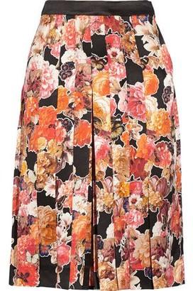 Givenchy Floral-Print Silk-Satin Culottes