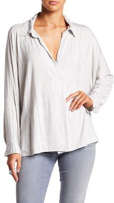 Free People Solid Wrap Blouse