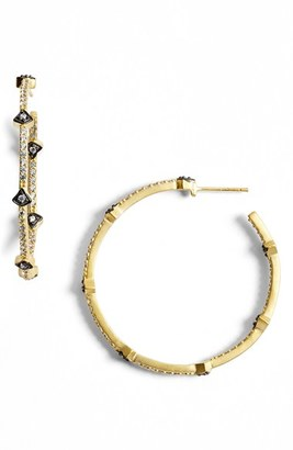 Women's Freida Rothman 'Metropolitan' Inside Out Hoop Earrings $200 thestylecure.com