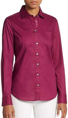 Robert Graham Women's Willow Stretch-Cotton Blouse