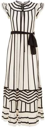 RED Valentino Striped Mesh Gown