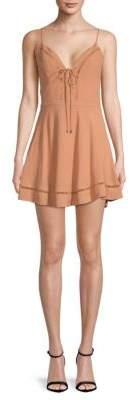 Lovers + Friends Sadie Tie-Front Fit-&-Flare Dress