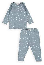 Bonpoint Infants' Car-Print Cotton Jersey T-Shirt & Leggings Set-Blue