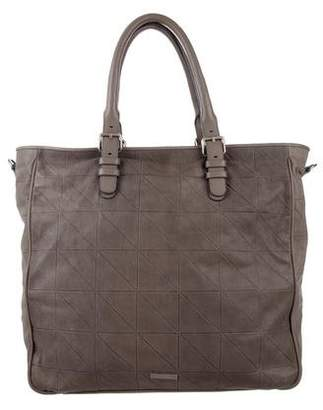 Giorgio Armani Perforated Leather Tote