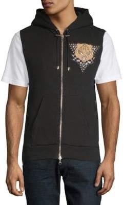 Balmain Graphic Full-Zip Vest