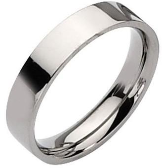 Titanium Flat 5mm Polished Ring