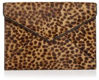 Rebecca Minkoff Leo Leopard-Print Calf Hair Clutch