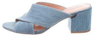 Sigerson Morrison Denim Mid-Heel Sandals