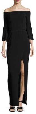 ABS By Allen SchwartzOff Shoulder Slit Gown