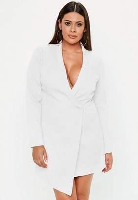 1fe851b8195 Missguided Plus Size White Blazer Dress