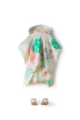 Country Road Tropic Floral Poncho