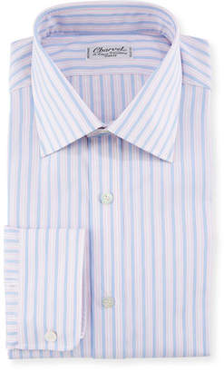 Charvet Men's Tricolor Stripe Dress Shirt