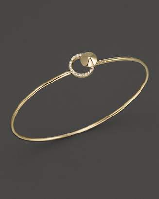 KC Designs Diamond Circle Bangle in 14K Yellow Gold