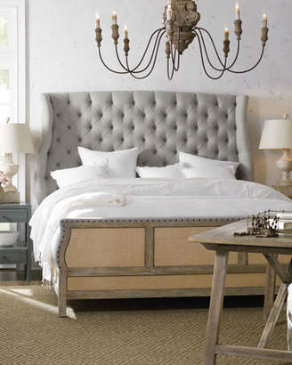 Hooker Furniture Jacie King Tufted Shelter Bed
