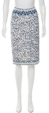 Ralph Lauren Sequin Embellished Silk Skirt