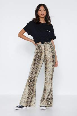 Nasty Gal Snakebite Love Flare Pants