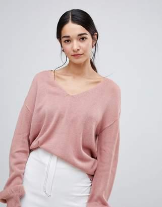 Vila v neck knit sweater