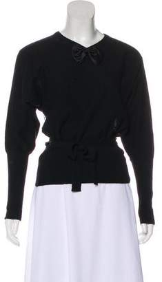 Sonia Rykiel Bow-Accented Knit Sweater