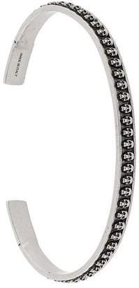 Alexander McQueen thin skull embellished bracelet