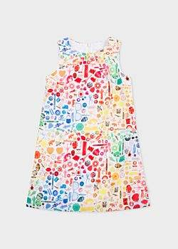 Paul Smith Girls' 8+ Years White 'Photographic Collection' Print Dress