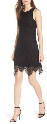 Love, Fire Scallop Lace Body-Con Dress